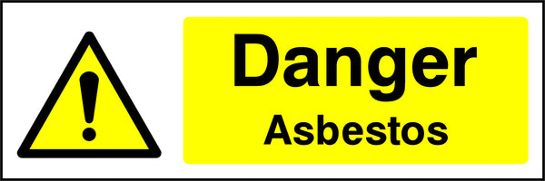 """Danger. Asbestos."" Sign"