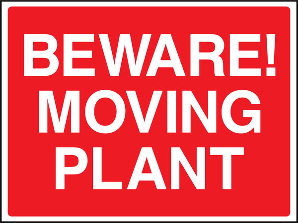 """Beware! Moving plant."" Sign"