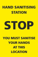 Yellow Hand Sanitising Station Sign