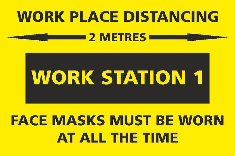 Social Distancing - Work Station 1 Sign