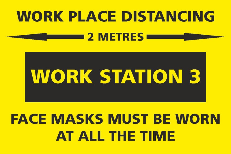 Social Distancing - Work Station 3 Sign