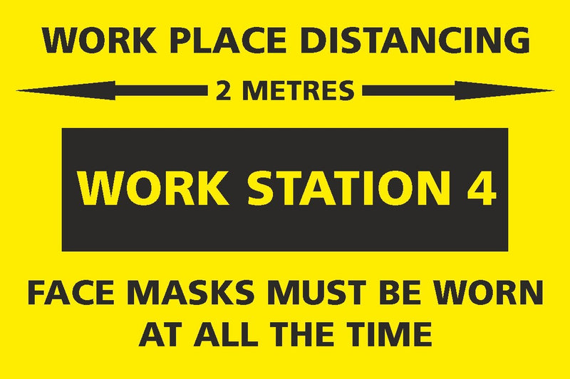 Social Distancing - Work Station 4 Sign