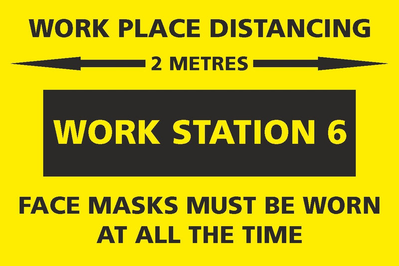 Social Distancing - Work Station 6 Sign