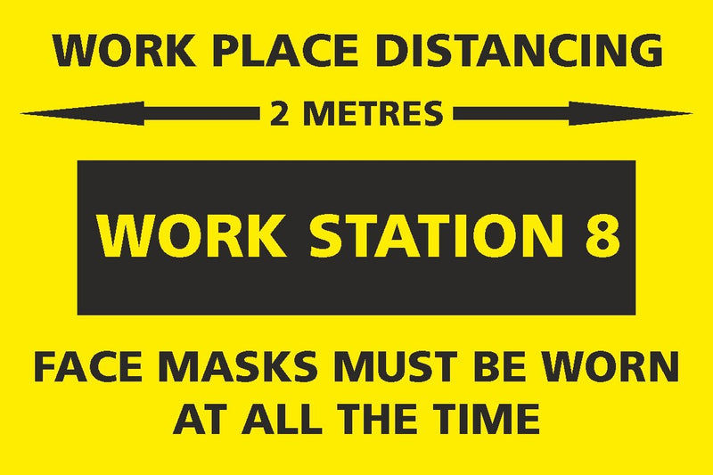 Social Distancing - Work Station 8 Sign