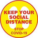 Social Distancing - Stand Here Sign (Round)