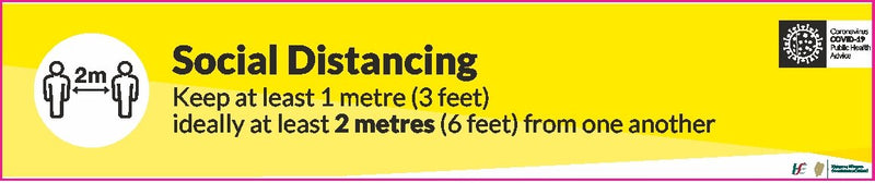 Social Distancing 2 Metres Long Floor Sticker
