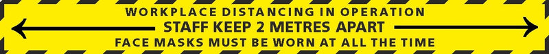 Workplace Distancing 2 metres long Floor Sticker