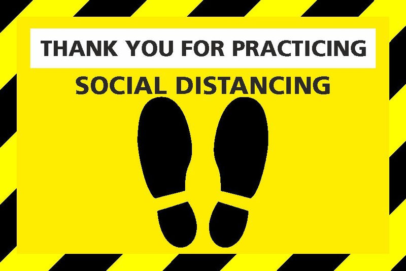 Social Distancing - Stand Here Sign (Rectangle)