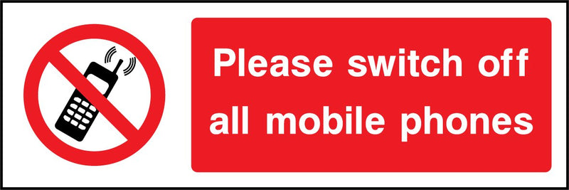 Please switch off all mobile phones. Sign