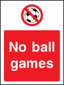 No ball games. Sign