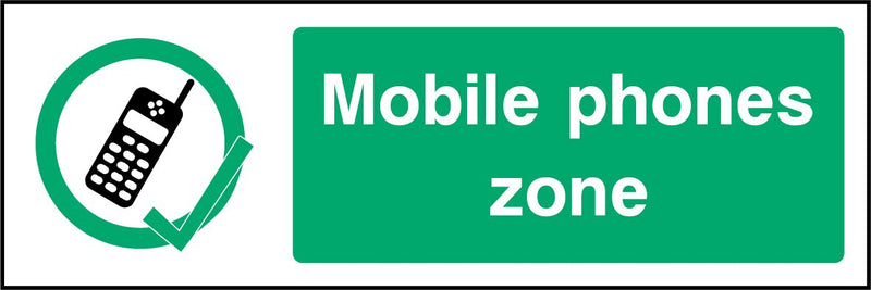Mobile phone zone. Sign