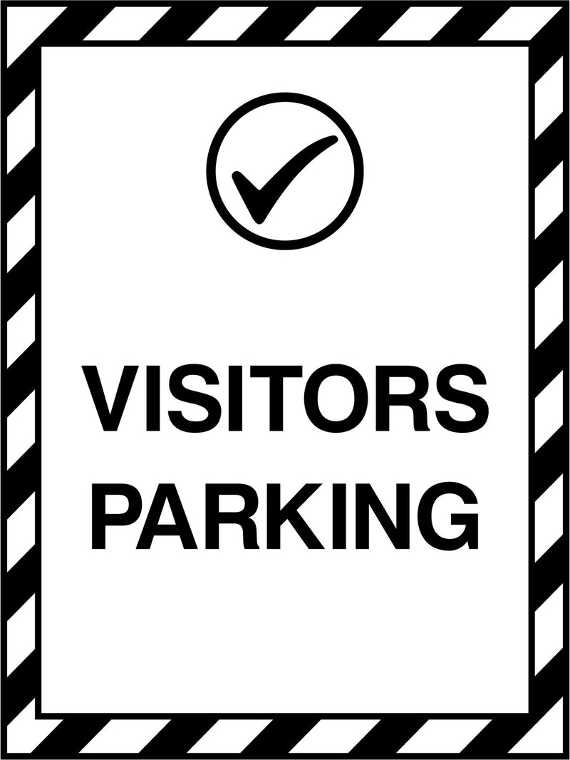 VISITORS PARKING. Sign