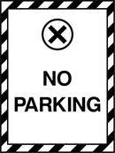 NO PARKING. Sign