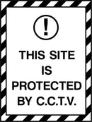 THIS SITE IS PROTECTED BY CCTV. Sign
