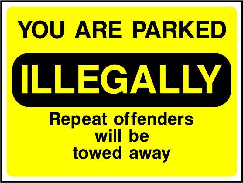 YOU ARE PARKED ILLEGALY Sticker