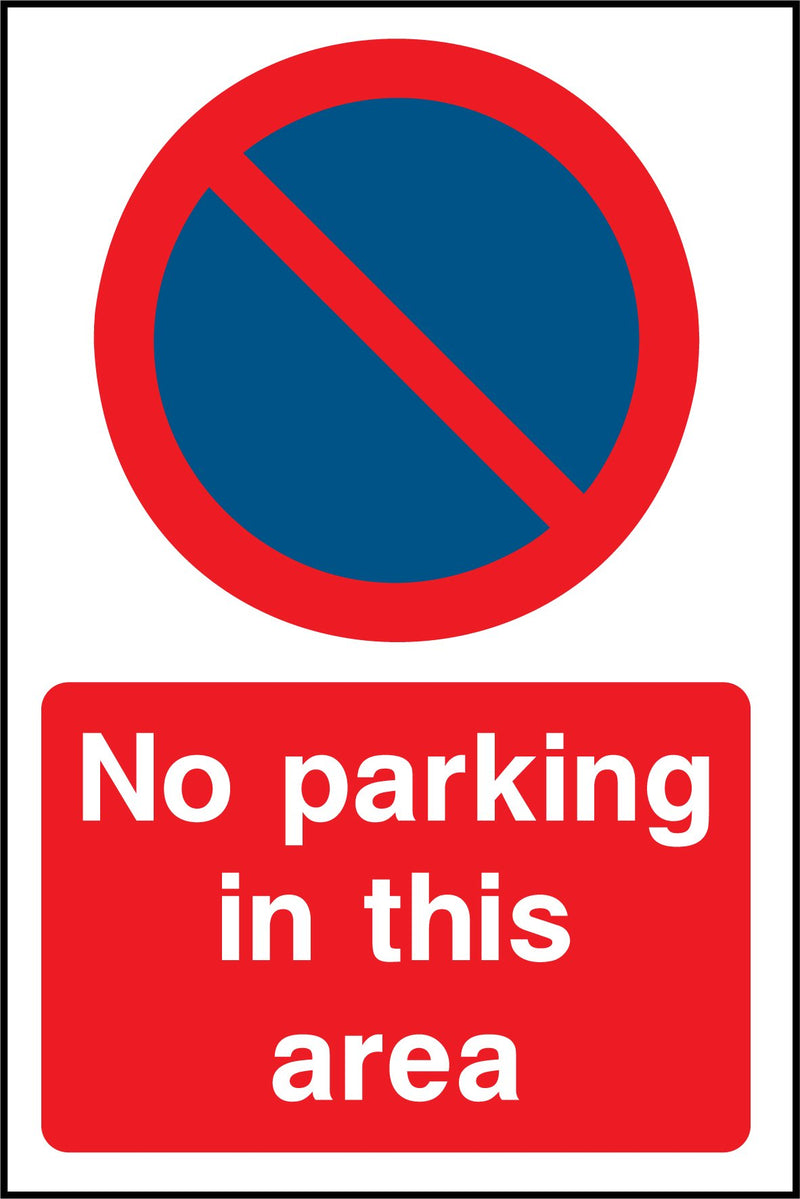 No parking in this area. Sign