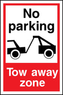 No parking. Tow away zone. Sign