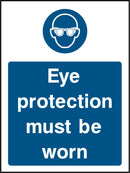 Eye protection must be worn. Sign