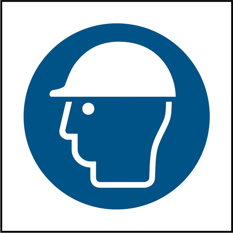 Safety helmets must be worn symbol. Sign