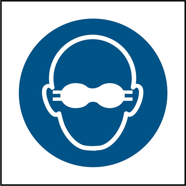 Opaque eye protection must be worn symbol. Sign