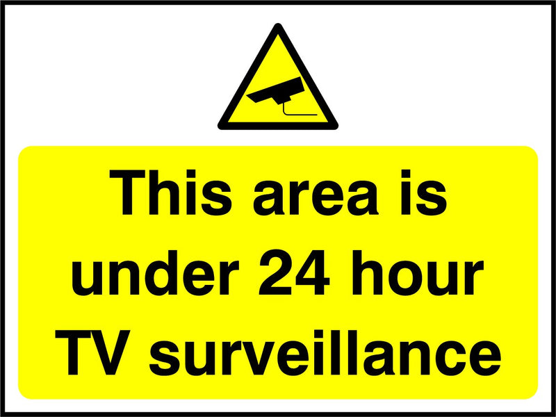 This area is under 24 hour TV surveillance. Sign
