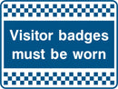 Visitor badges must be worn. Sign