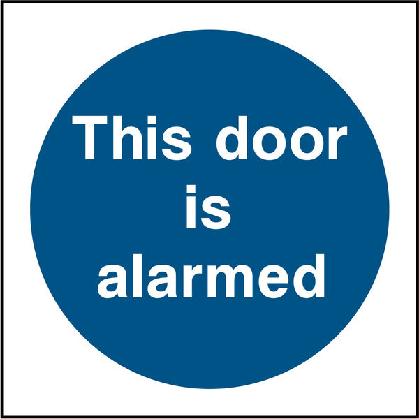 This door is alarmed. Sign