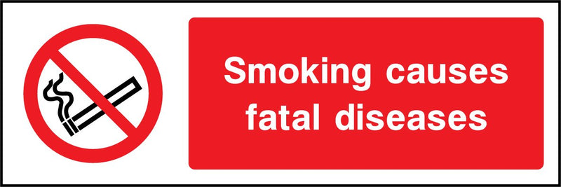 Smoking causes fatal diseases. Sign