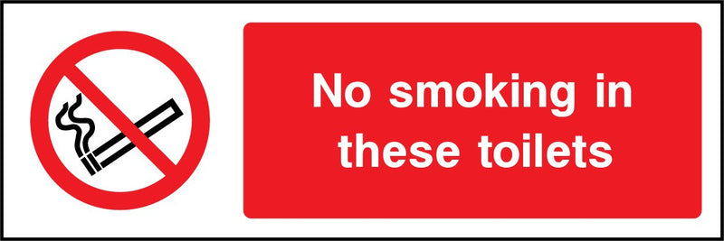 No smoking in these toilets. Sign