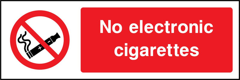 No electronic cigarettes. Sign
