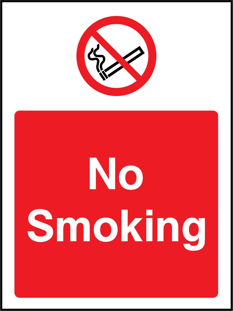 No smoking. Sign