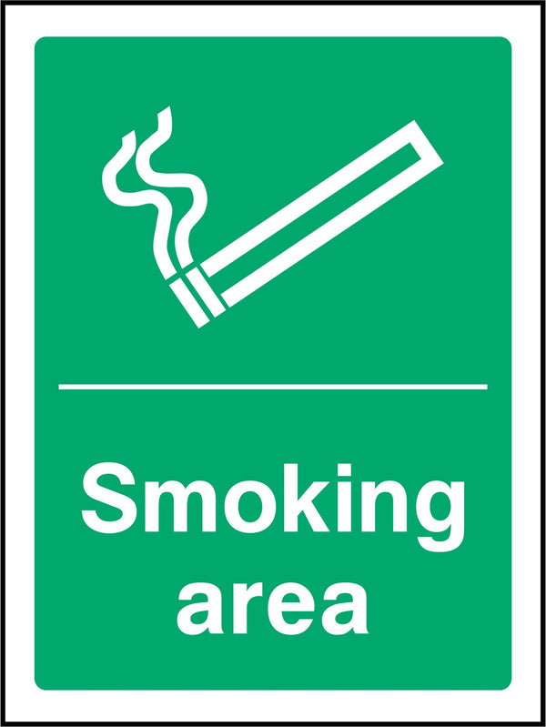 Smoking area. Sign