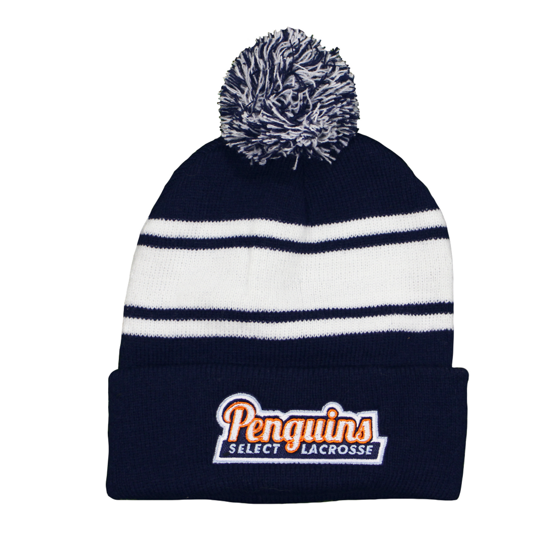Penguins Winter Pom Hat