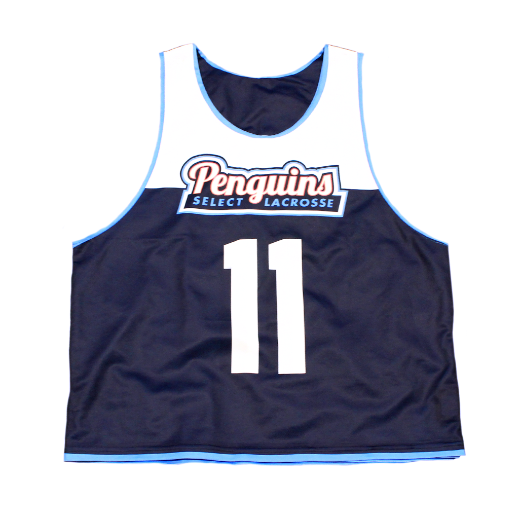 Blue/White Penguins Reversible Jersey