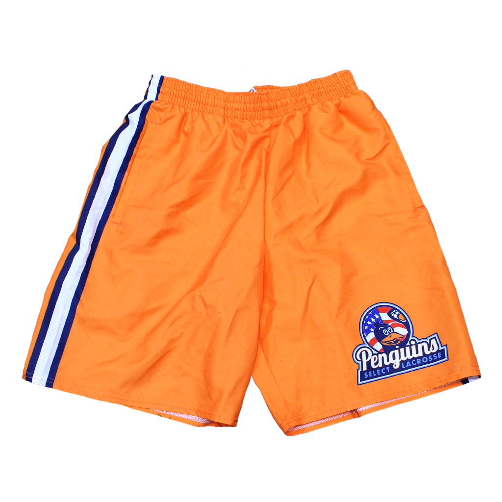 Penguins White Striped Shorts