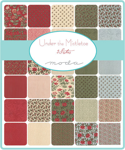 Moda  UNDER THE MISTLETOE By 3 Sisters Christmas Fabric