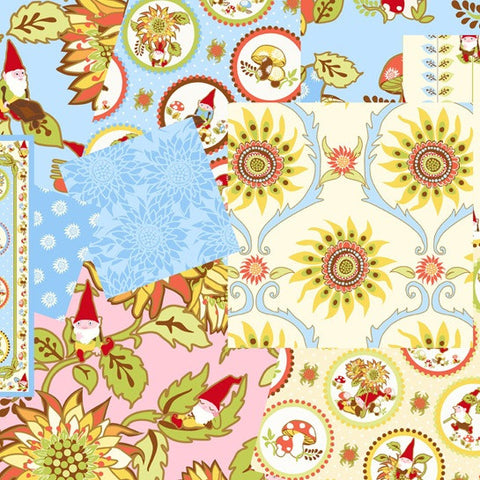 Better Gnomes and Gardens Range by In the Beginning Fabrics