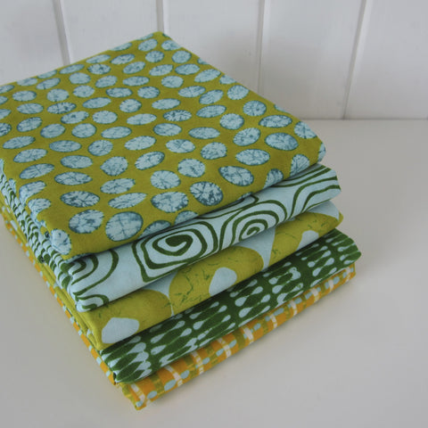 From Outside In Fat Quarter Bundle x 5 Greens