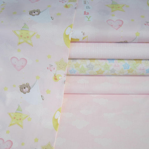 Sweet Dreams Range by Red Rooster Fabrics Fat Quarter Bundle x 4