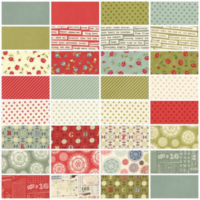 Odds and Ends (Rosebud) Range by Julie Combstock for Moda