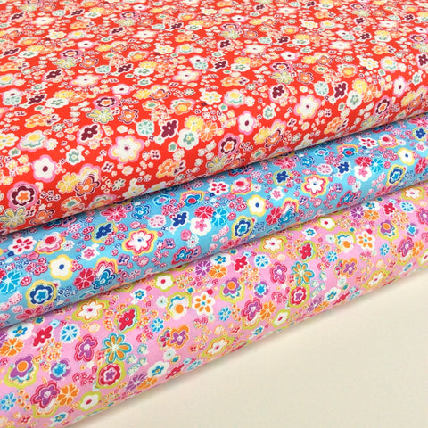 Simply Sherbert Flowers Range - Fat Quarters and Bundles
