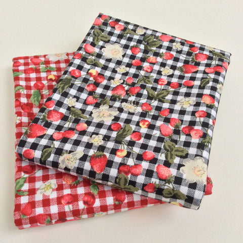 Simply Check Strawberry Picnic Range - Fat Quarters and Bundles
