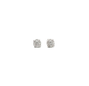 Medium Diamond Cluster Studs