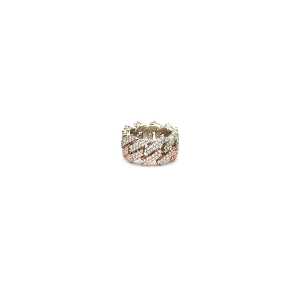 Jagged Miami Cuban Eternity Ring