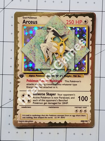 1/5 Limited Edition Arceus Custom Card