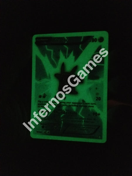 1/5 Limited Edition Glow-In-The-Dark Full Art Pikachu Custom Pokemon Card