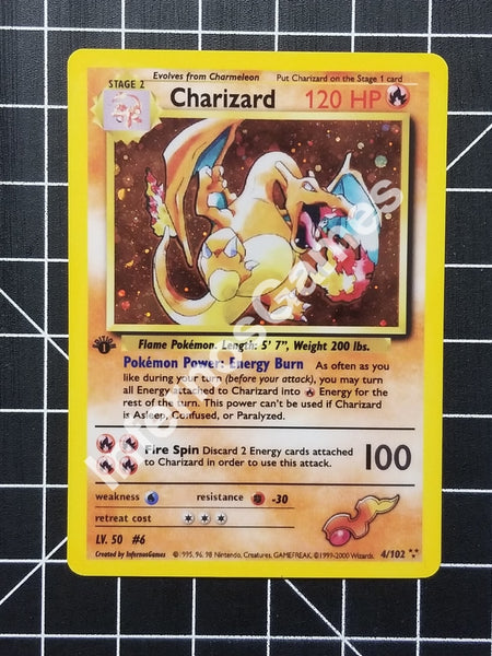 1St Edition Charizard Cosmos Holo Vintage Wotc Style Custom Pokemon Card Realistic