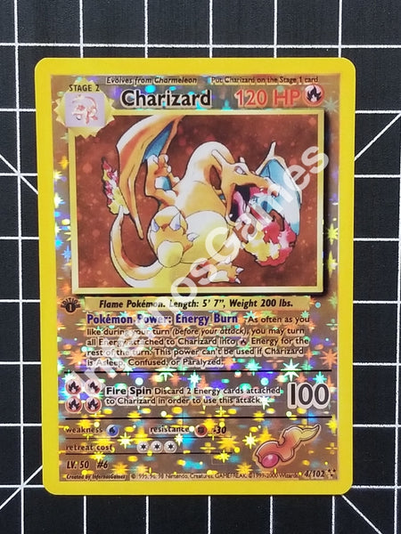 1St Edition Charizard Cosmos Holo Vintage Wotc Style Custom Pokemon Card Reverse Starlight