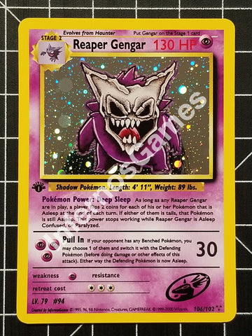 1St Edition Cosmos Holo Reaper Gengar Vintage Wotc Style Custom Pokemon Card