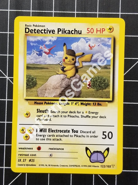 1St Edition Detective Pikachu Holo Vintage Wotc Style Custom Pokemon Card Non